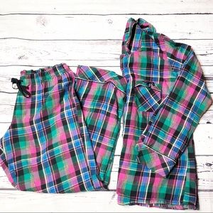Victoria's Secret Christmas plaid pajama set